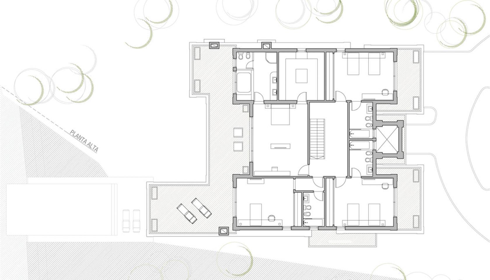 Diseño de casas con ornamentos