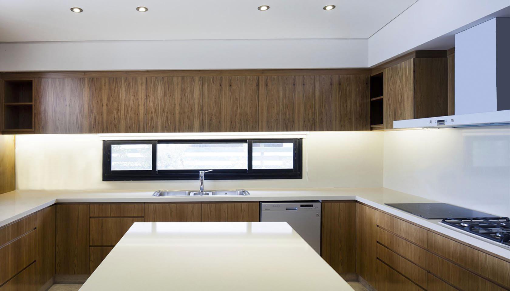 cocinas modernas, madera en cocinas