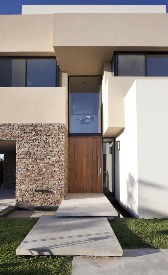 fachadas de piedra y tarquini, diseño de fachadas