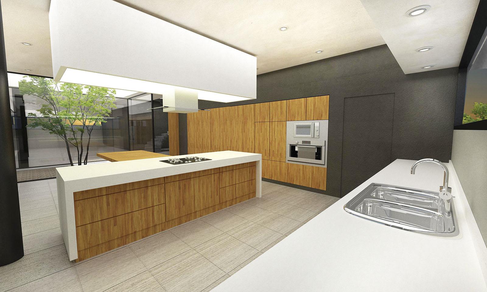 cocinas modernas, cocinas blancas, diseño de interiores, madera en cocinas