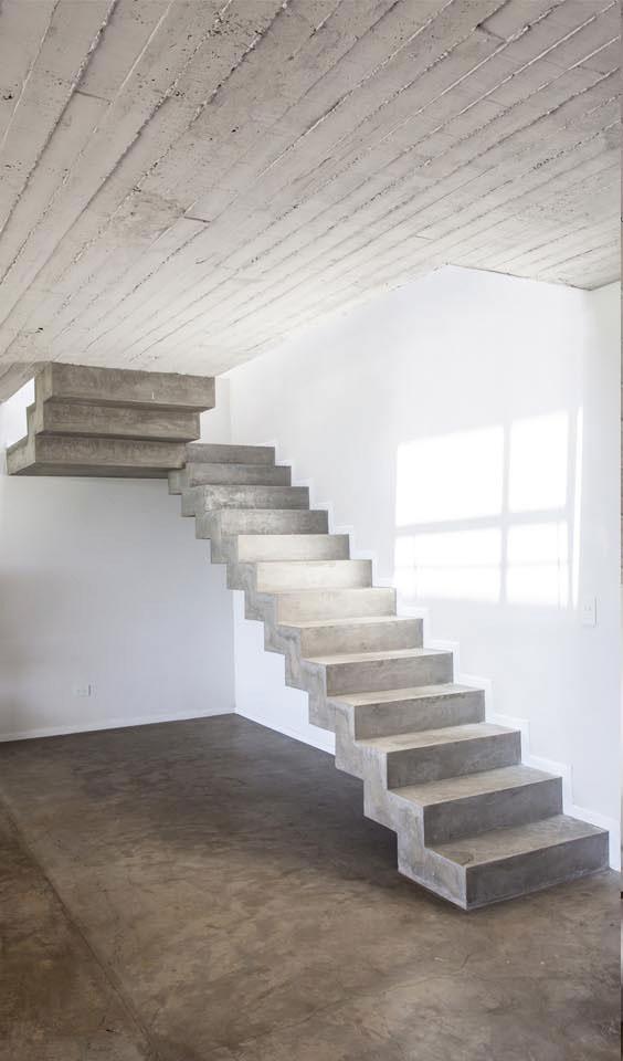 escaleras modernas, escaleras en hormigón