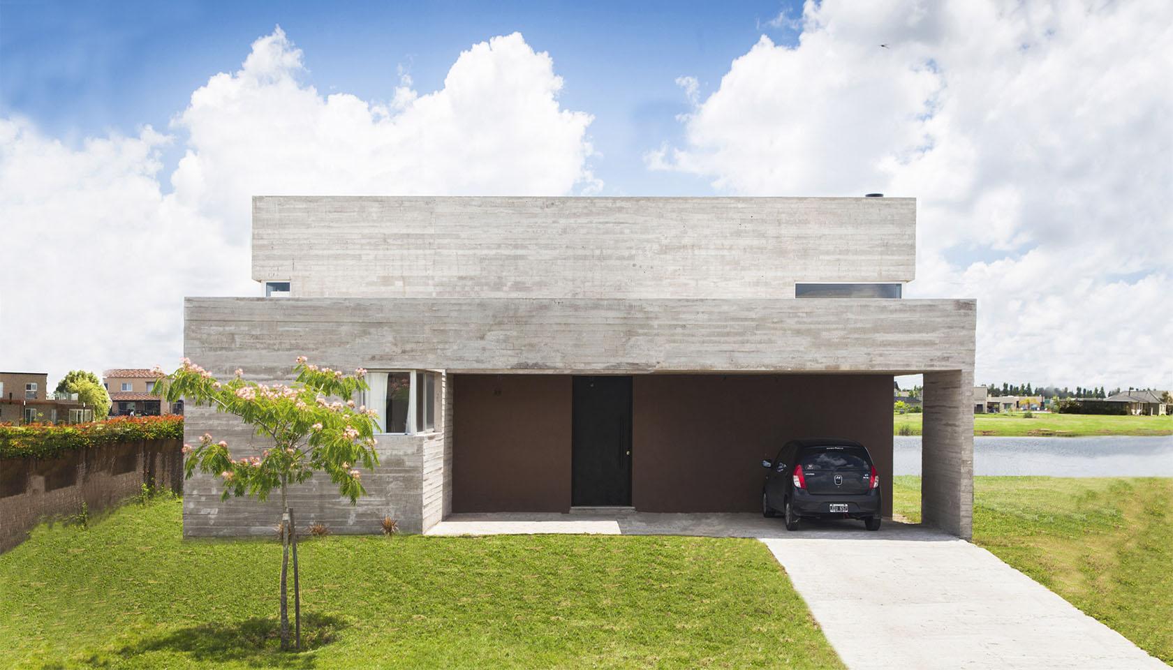arquitectura contemporánea, cintas de hormigón