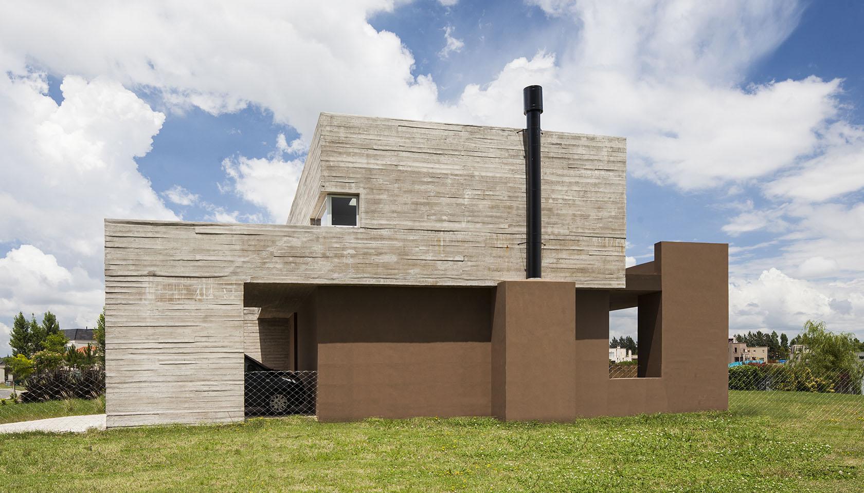 Hormigo y revoque, fachadas modernas, arquitectura contemporánea