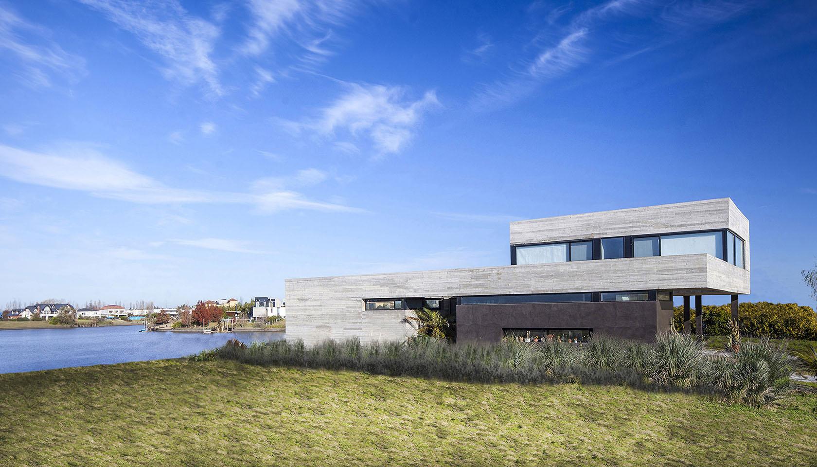 arquitectura y paisaje, casas con vista al lago, casas minimalistas en zona norte