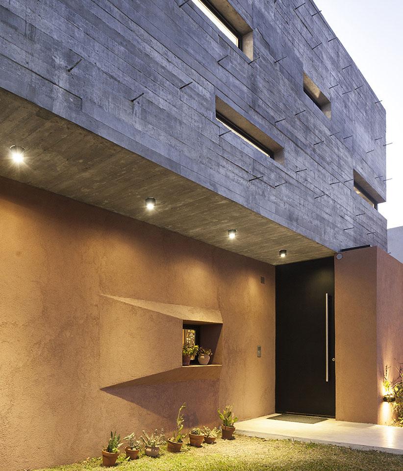 ventanas modernas, ideas para fachadas en hormigón