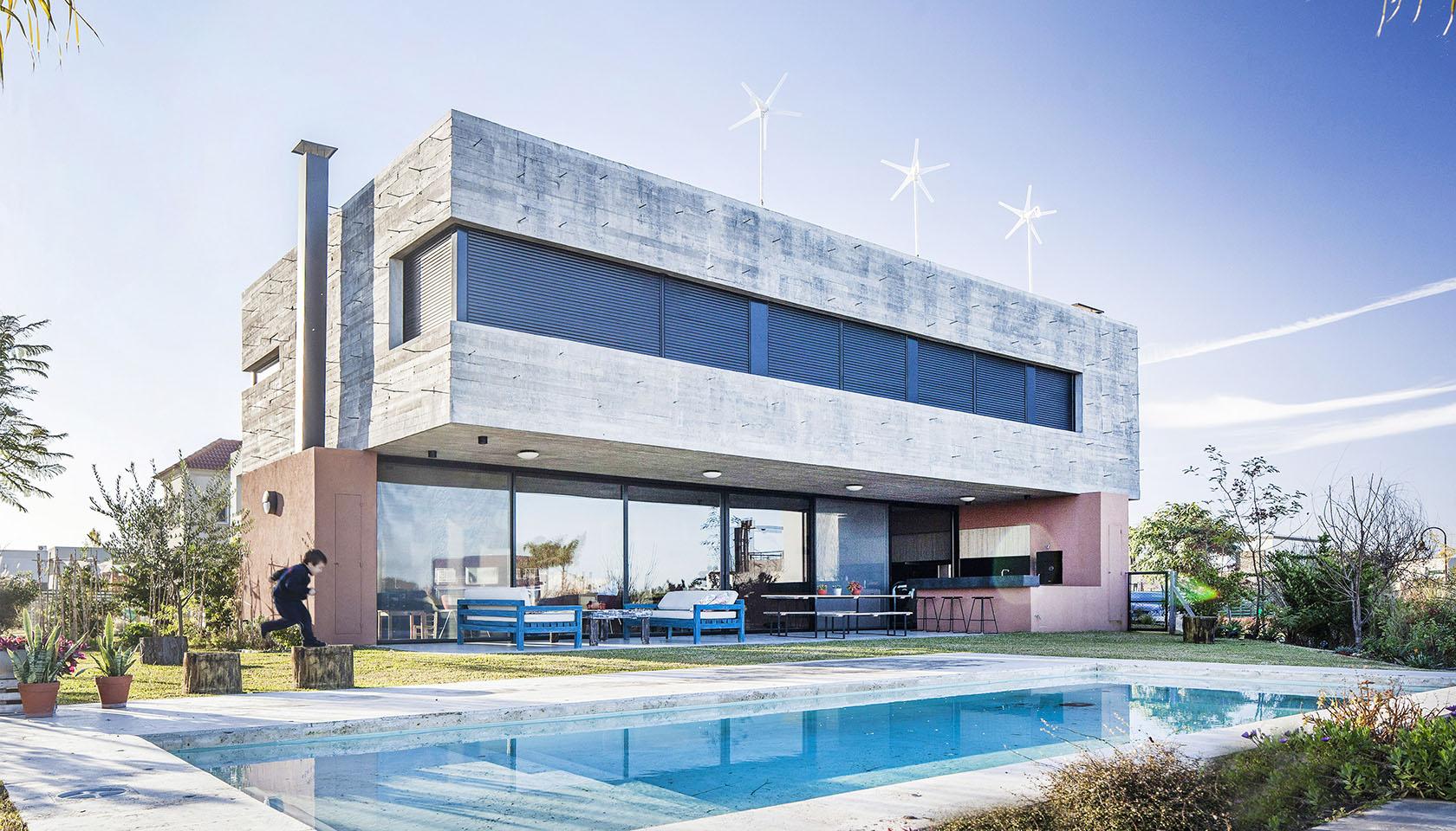 casas modernas, casas en hormigón