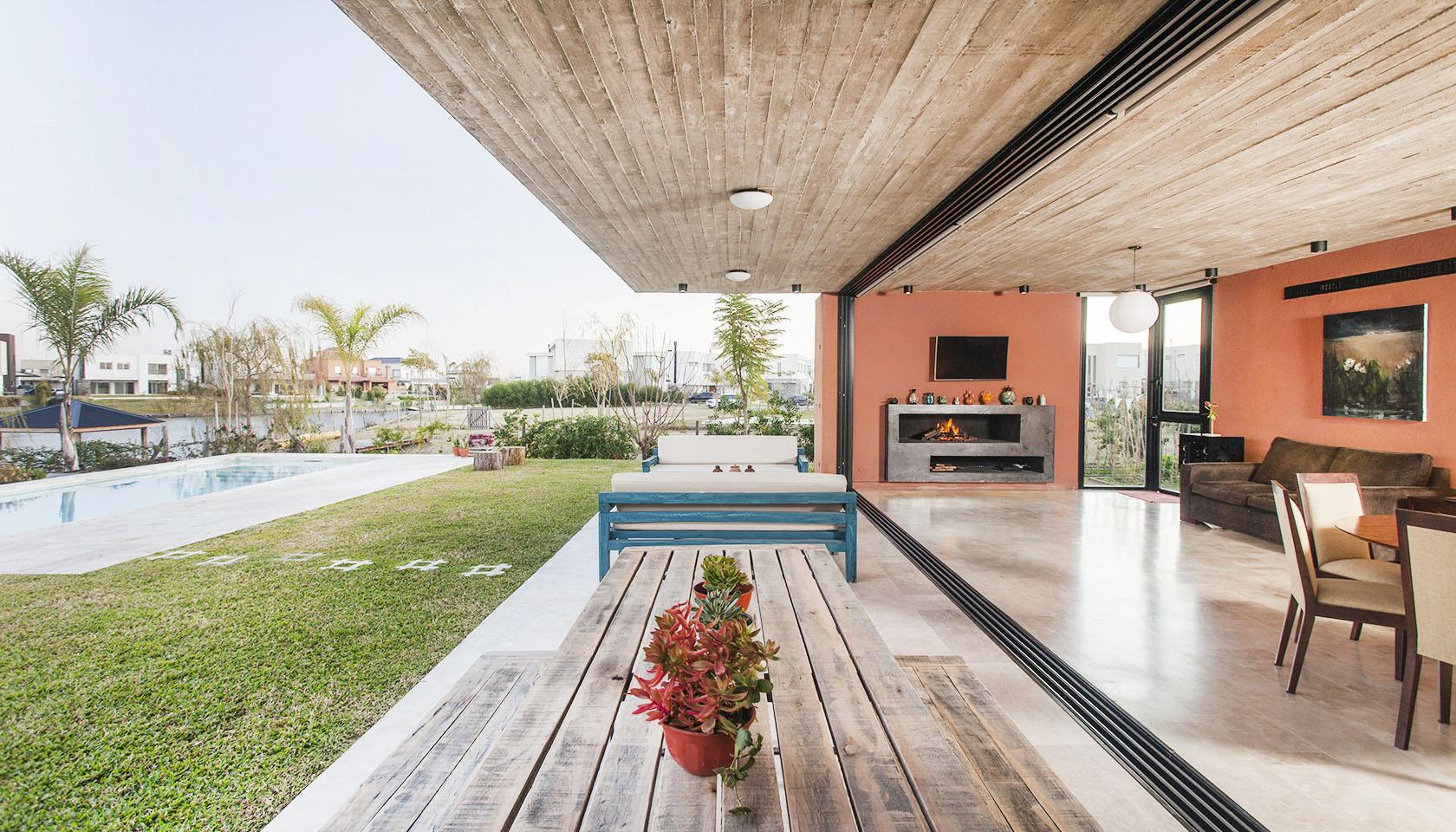 galerías modernas, casas modernas con grandes voladizos