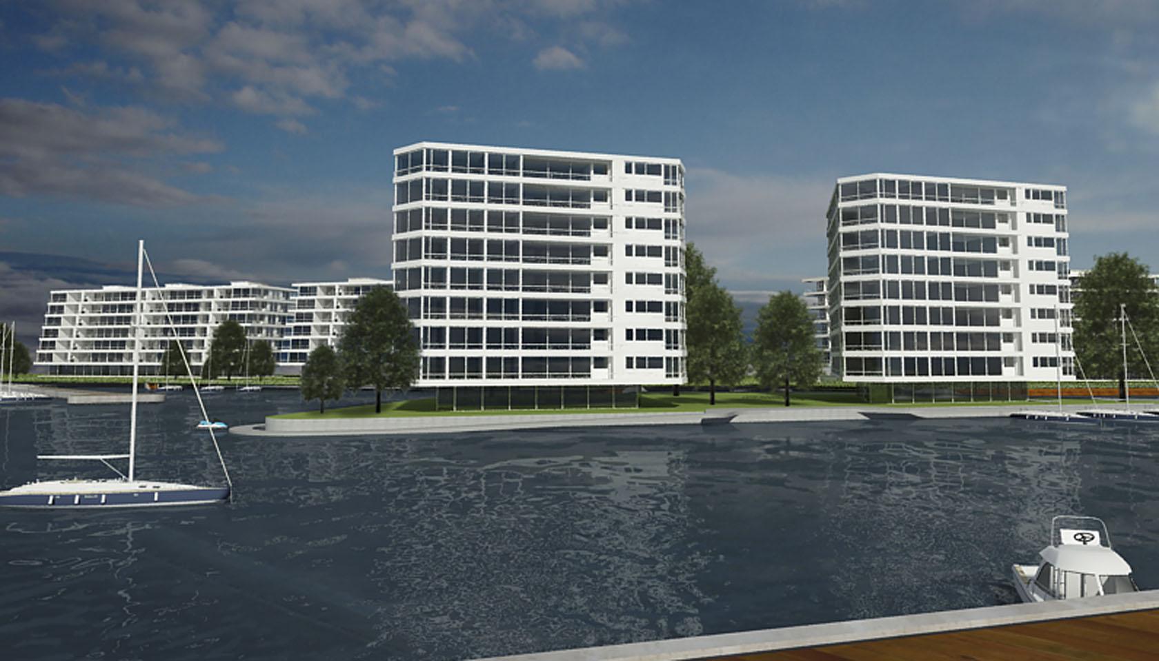 Edificios con vista al algo, diseño de muelles en edificios de vivienda