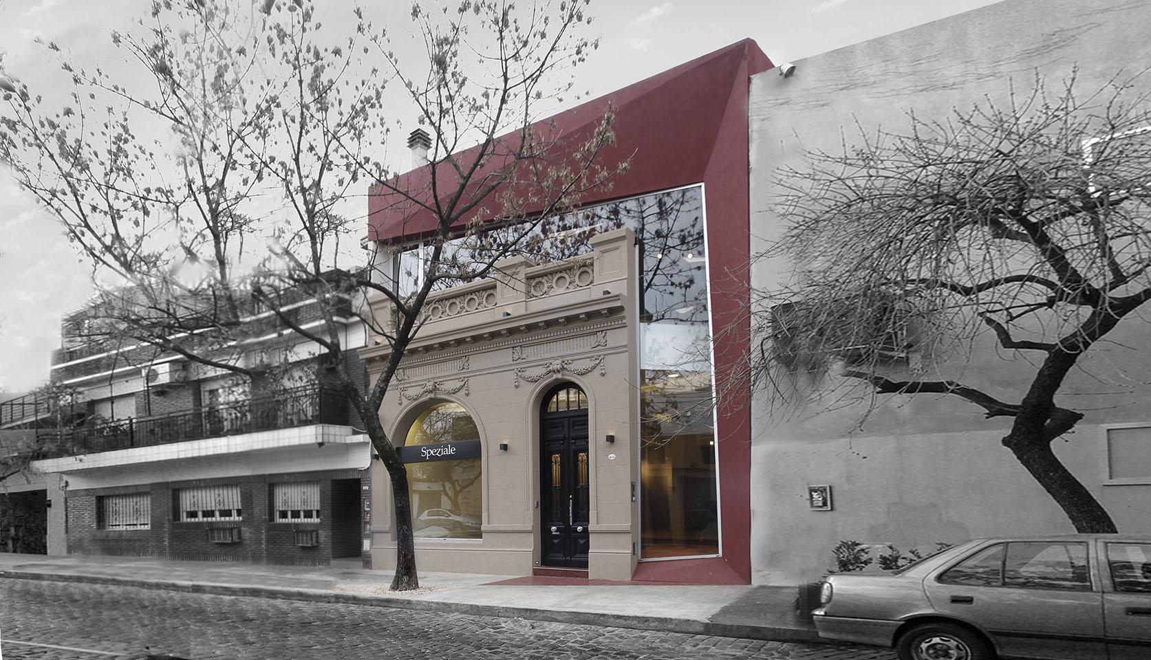 Plegados arquitectónicos, diseño de fachadas modernas en locales, diseño de locales