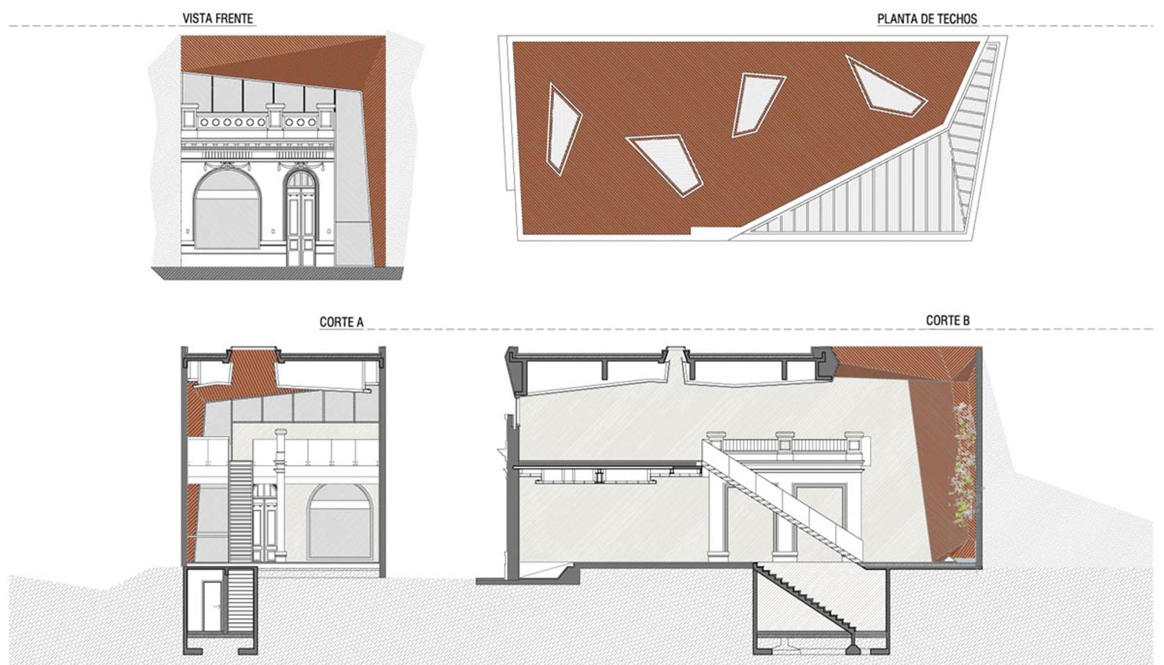 Fachadas modernas en casas chorizos, restauración de casa chorizo