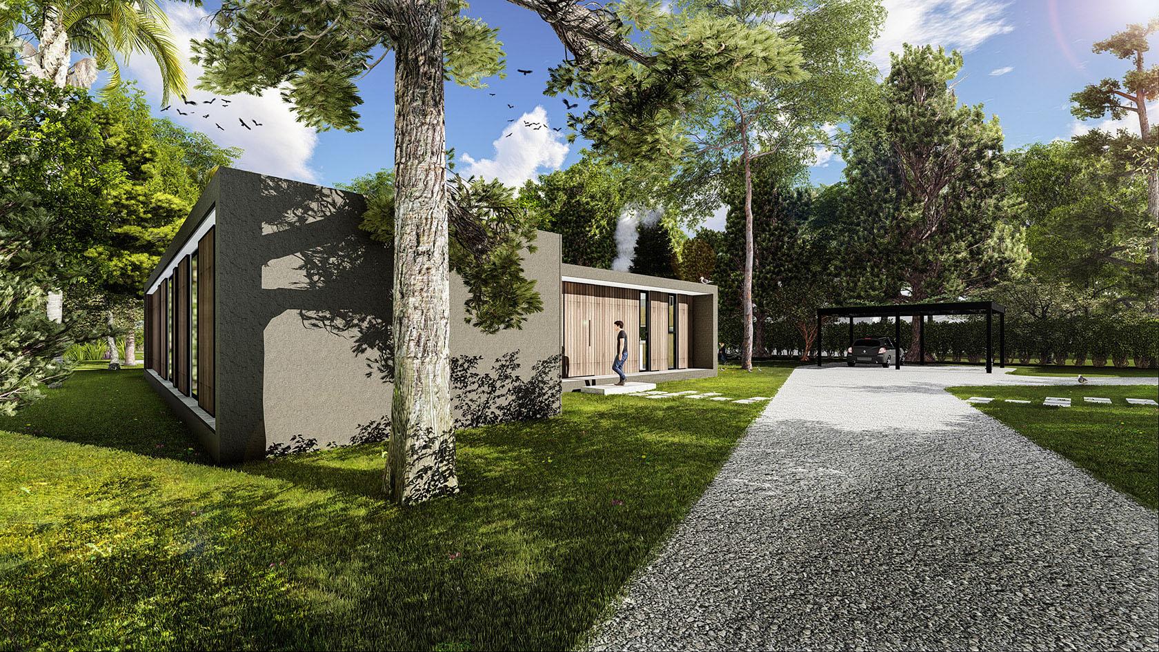 Casas en una sola planta, casas minimalistas